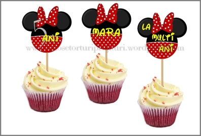 SET TOPPERS PERSONALIZATE CAP MINNIE
