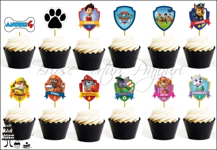 Set Toppers Personalizate Contur PATRULA CATELUSILOR
