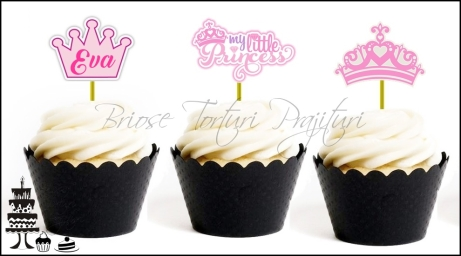 Set Toppers Personalizate Contur PRINCESS