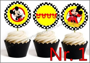 Set Toppers Personalizate Mickey Mouse Nr. 1