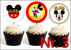 Set Toppers Personalizate Mickey Mouse Nr. 3