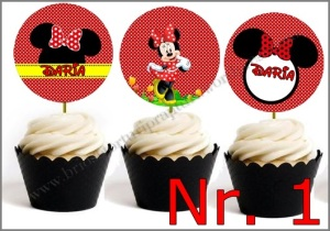 Set Toppers Personalizate Minnie Mouse Nr. 1