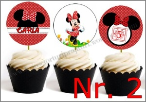 Set Toppers Personalizate Minnie Mouse Nr. 2