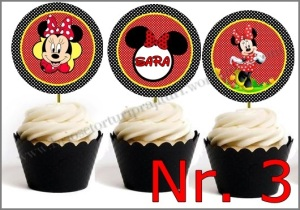 Set Toppers Personalizate Minnie Mouse Nr. 3