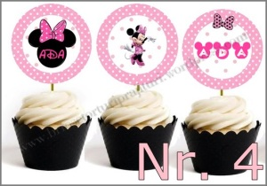 Set Toppers Personalizate Minnie Mouse Nr. 4