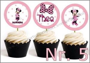 Set Toppers Personalizate Minnie Mouse Nr. 5