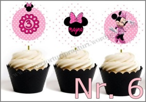 Set Toppers Personalizate Minnie Mouse Nr. 6
