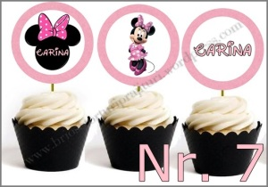 Set Toppers Personalizate Minnie Mouse Nr. 7