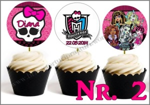 Set Toppers Personalizate Monster High Nr. 2