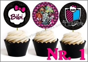 Set Toppers Personalizate Monster High
