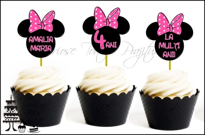 "Set Toppers Personalizate ""CAP MINNIE MOUSE"" - ROZ"