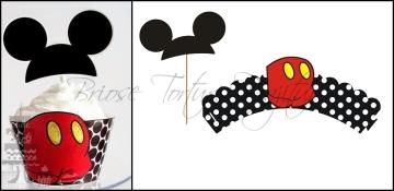 Set Accesorii Briose Mickey Mouse