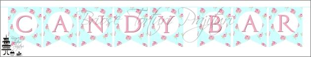 Banner SHABBY CHIC - BLEU
