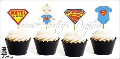 Set Toppers Personalizate SUPERBABY