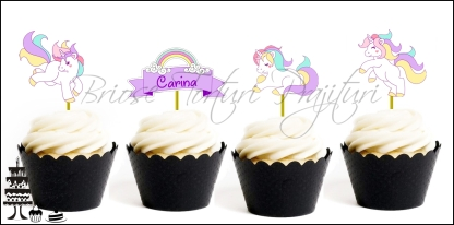 Set Toppers Personalizate UNICORN