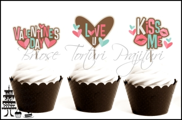 toppers tematice contur valentine's day nr. 1