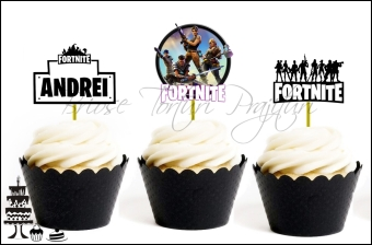 Set Toppers Personalizate Contur FORTNITE